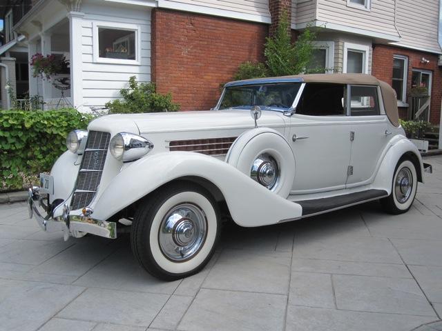 1935 auburn 851 phaeton old is new again inc. Black Bedroom Furniture Sets. Home Design Ideas
